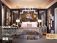 This Fall's Grand Illusion for Your Bedroom at The Home Depot wall colors, decor, mirror, idea, headboard, guest bedrooms, master bedrooms, dream bedrooms, cornic