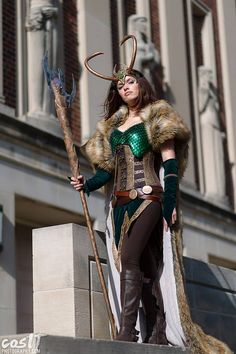 Lady Loki cosplay by Kyra Wulfgar. Photo by CosIT Photography.