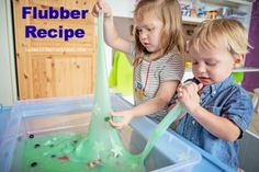Two easy recipes to make flubber or slime!