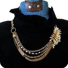 asymmetr necklac, statement necklac