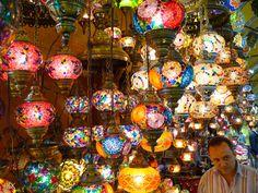 Lamps in Bazaar, Istanbul