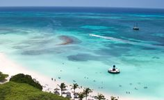 An aerial shot of Palm Beach in Aruba.  (From: Photos: 10 Most-Visited Caribbean Islands)