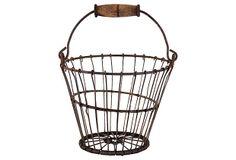 "Small Wire Egg Basket 10.25""W x 8""H ($295.00)  $175.00 OneKingsLane.com"