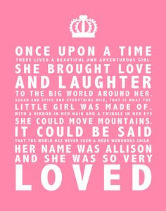 Once upon a time quote for the wall