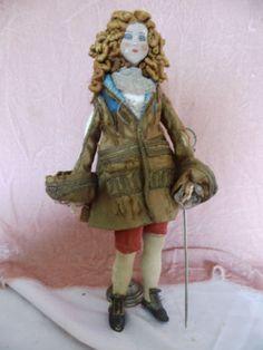French Male Boudoir Doll - WOW!!! ANCIENNE-POUPEE-DE-SALON-HOMME-18eme-SIECLE-SOIE-ANTIQUE-MALE-BOUDOIR-DOLL-SILK