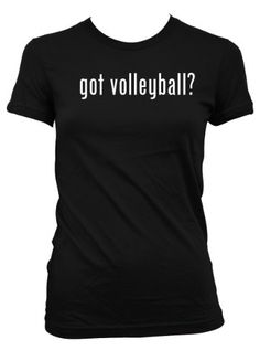 got volleyball? L.A.T Misses Cut Women's T-Shirt, Black, Large
