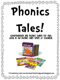 This freebie includes comprehension and phonics sheet for each story in the Phonics Tales! books by Scholastic. To see examples of these sheets in ...