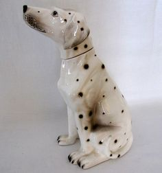 Hydrangea Row, Vintage Dalmation Dog Decanter made in Japan