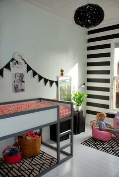 mommo design: KURA BED HACKS  -- maybe another twin bed underneath?