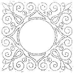 Paper piercing template.