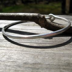 Bright Brushed Thick Sterling Silver Minimalist by LisasLovlies, $68.00