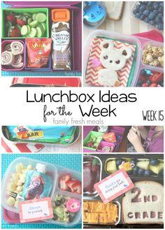 Rock The Lunchbox - School Lunchbox Ideas - FamilyFreshMeals.com (week 15 )