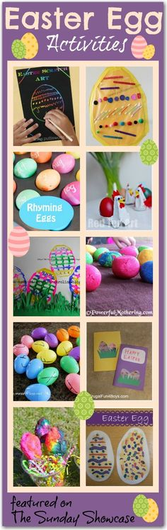 Easter egg ideas - lots of fun and creative ideas for kids