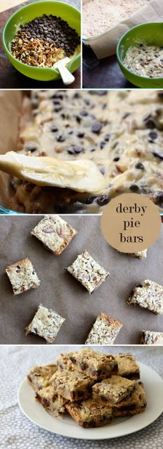 derby pie bars. Repin.Repin.Repin. This was one of my favorite things from KY. Derby pie.