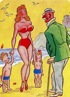 'You've got a couple of nice handfuls!'- vintage saucy postcards from the English seaside