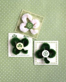 Chenille Shamrock Pins (how to)