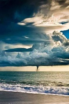 Storm (Italy) by Jamal Ismail. Water spout.