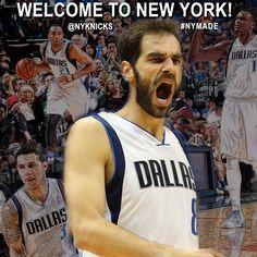 Join us in welcoming Jose Calderon, Samuel Dalembert, Wayne Ellington and Shane Larkin to the #Knicks! #NYMADE