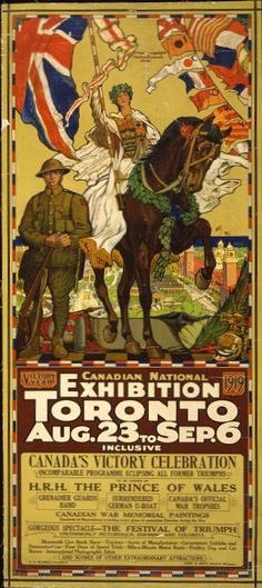 Poster for the Canadian National Exhibition (CNE), Toronto, 1919