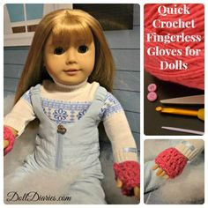 Easy Crochet Fingerless Gloves for Dolls