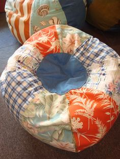 Bean bag for Emma's room. Try to copy this shape