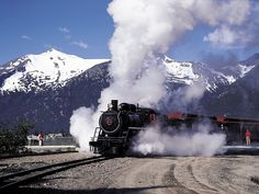 "All Aboard! #SteamLocomotive #Skagway #Alaska (""All Aboard"" The Steam Train Adventure shore excursion - Skagway, AK)"