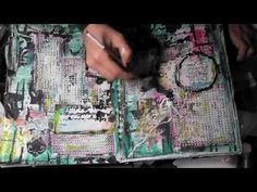 "Mixed Media Friday "" Playing with Texture"" Art Journal"