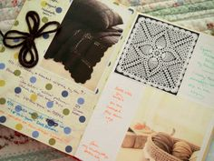 Crochet project scrapbook