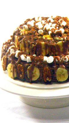Heavenly Hash Banana Pecan EXTRA Gooey Chocolate Cake