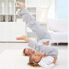 Loving yoga. Like mother, like daughter.