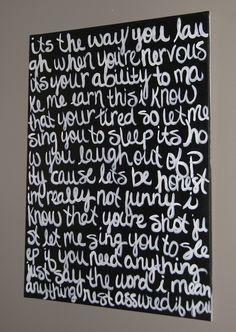 DIY Lyrics Canvas