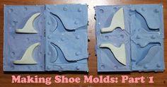 Making Monster High shoe molds