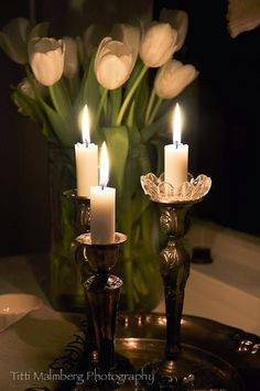 Tulips and candles.....