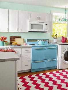retro-inspired cottage kitchen | Jane Coslick