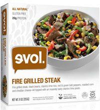 frozen meal, grill steak, food, fire grill, evol fire