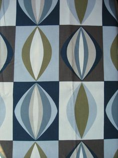 Mid century Scandinavian style fabric by Patternlike on Etsy, kr45.00