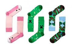 Minecraft + Happy Socks