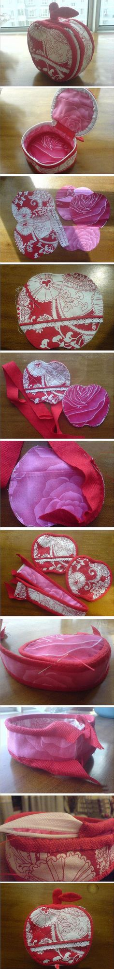 DIY Apple Sewing Box