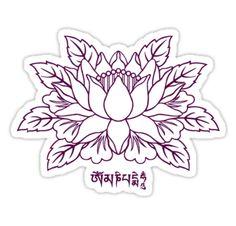 Lotus with Om Mani Padme Hum Mantra