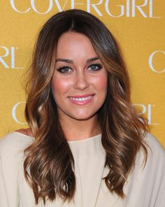 LC brunette with caramel highlights