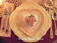 Pretty In Pink Valentine's Day Dishes jean, holiday, valentine day, pink valentin, heart dish, heart plate, tabl set, valentin tablescap, valentin heart