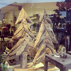 driftwood christmas trees.