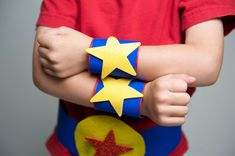 Cereal Box Crafts: Cereal box superhero cuffs