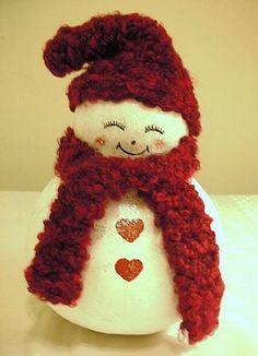 Wink Snowman Gourd Statuary