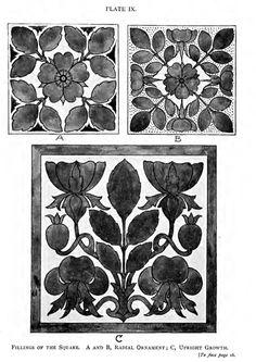 Laurelhurst 1912 Craftsman: Pillow shaped stencil or embroidery designs.