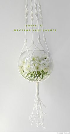 macrame hanging vase - want to make hanging planters for the porch