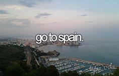 Go to Spain #bucketlist