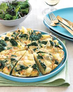 Kale, Potato, and Onion Frittata from Epicurious.com #myplate #protein #vegetables