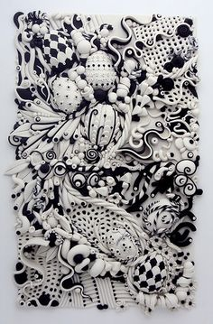 Zentangle made with polymer clay... Incredible!!!