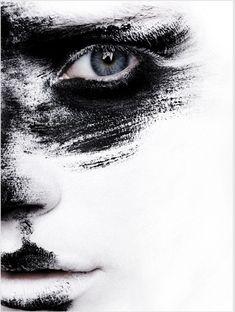 makeup, art, black white, inspir, beauti, paint, beauty, portrait, eyes